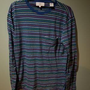 Jack spade multi color linen Blend shirt Size M